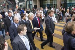 Free Geert Wilders Campaigning In The Hague, Holland Royalty Free Stock Image - 108742606