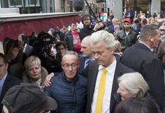 Free Geert Wilders Campaigning In The Hague, Holland Royalty Free Stock Images - 108792639