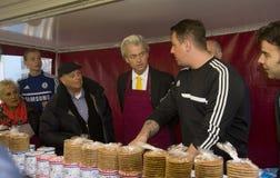 Geert Wilders, der in Den Haag, Holland kämpft Lizenzfreie Stockfotos