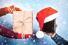 Geest van Kerstmis en Nieuwjaar Concept een vakantie en dagen stock fotografie