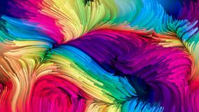 Geest van Vloeibare Kleur Royalty-vrije Stock Fotografie