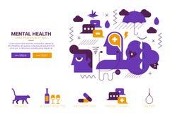 Geestelijk gezondheidsconcept Royalty-vrije Stock Afbeeldingen