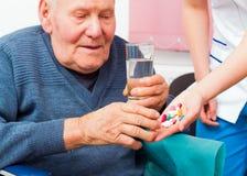 Geestelijke ziekte in de bejaarden royalty-vrije stock fotografie