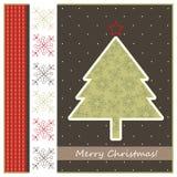 Geeting κάρτα Χριστουγέννων Στοκ φωτογραφία με δικαίωμα ελεύθερης χρήσης