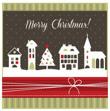 Geeting κάρτα Χριστουγέννων Στοκ Εικόνες