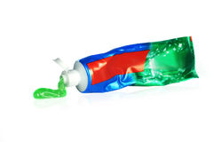 Gefäß der Zahnpasta stockfotos