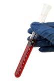 Gefäß mit Blut Stockfotografie