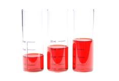 Gefäße mit roter Flüssigkeit Lizenzfreies Stockfoto