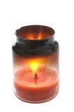 Gefährliche brennende Kerze-Lokalisierung stockbild