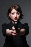 Gefährliche Frau lizenzfreie stockfotografie