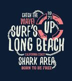 Gefährliche Haifischillustration mit Typo lizenzfreie abbildung