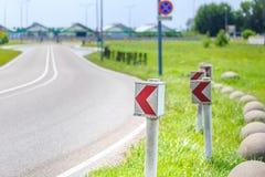 Gefährliche Kurve! Lizenzfreies Stockbild