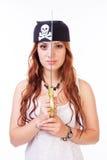 Gefährliche Piratenfrau Stockfotos