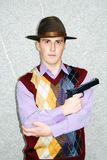 Gefährliche schauende Mafia. stockbilder