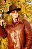 Gefährliche schauende Mafia. lizenzfreies stockfoto