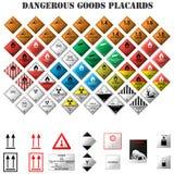 Gefährliche Warenplakate Stockfoto