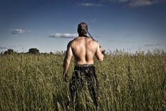 Gefährlicher Bodybuilder Stockfotografie