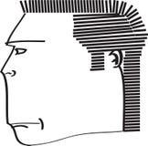 Gefährlicher Mann der Skizze im Profil Lizenzfreie Stockfotos