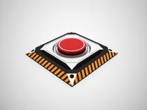 Gefährlicher roter Knopf Lizenzfreie Stockbilder