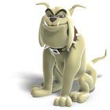 Gefährlicher und lustiger Toon-Hund Stockfoto