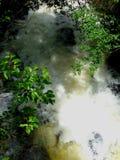 Gefährlicher Wasserstrom Stockbild