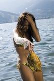Gefährliches Fischen stockfoto