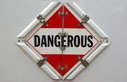 Gefährliches Schild lizenzfreies stockfoto