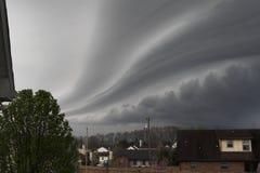 Gefährliches Sturmkommen Stockbild