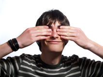 Gefälschte Blindheit Lizenzfreie Stockbilder