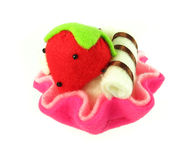 Gefälschte Erdbeere Stockfoto