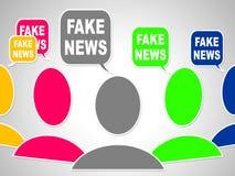 Gefälschte Illustration der Nachrichten-Social Media-Sprache-Blasen-3d stock abbildung