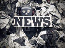 Gefälschte Nachrichten stockbild