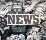 Gefälschte Nachrichten stockbilder