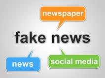 Gefälschte Nachrichten fassen die Durchschnitte ab, die Illustration der Tatsachen-3d irreführen stock abbildung