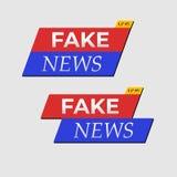 Gefälschte Nachrichten leben Fahnen lizenzfreie abbildung