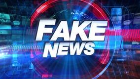 Gefälschte Nachrichten - Sendung Fernsehanimations-grafischer Titel lizenzfreie abbildung