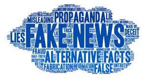 Gefälschte Nachrichten-Wort-Wolke lizenzfreie abbildung