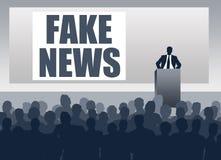 Gefälschte NachrichtenPressekonferenz lizenzfreie abbildung