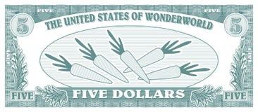 Gefälschtes Geld lizenzfreie abbildung