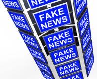Gefälschtes Nachrichten-Fernsehen sortiert die Durchschnitte aus, die Illustration 3d irreführen stock abbildung