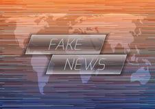 Gefälschtes Nachrichten-Konzept stock abbildung