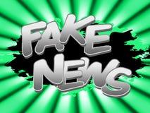Gefälschtes Nachrichten-Wort bedeutet alternative Illustration der Tatsachen-3d vektor abbildung