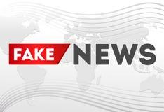 Gefälschtes Nachrichtenplakatdesign auf grauem Hintergrund vektor abbildung