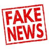 Gefälschtes Nachrichtenzeichen oder -stempel stock abbildung