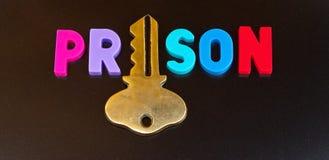 Gefängnis hält den Schlüssel Stockfoto