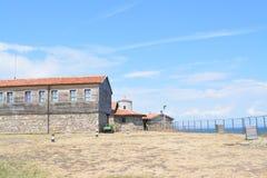 Gefängnis am Heiligen Anastacia Island in Schwarzem Meer lizenzfreie stockbilder