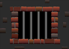 Gefängnis-Stangen Stockbilder