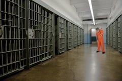Gefängnis, Gefängnis, Verbrecher, Strafgefangene, Gefangener, Zelle lizenzfreies stockfoto