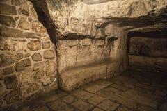 Gefängnis von Christus, Kloster des Praetorium stockfotos