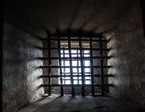 Gefängnisfenster Stockfoto